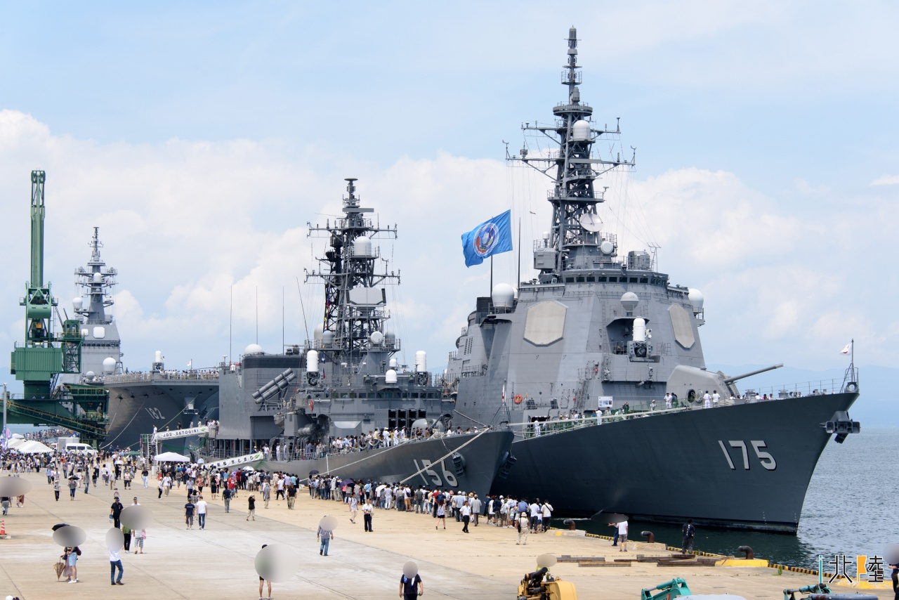 伏木港 海上自衛隊 護衛艦「いせ」「みょうこう」「せとぎり」  一般公開